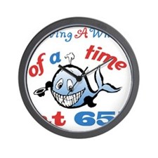 65th Birthday Humor (Whale) Wall Clock