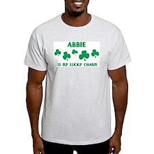 Abbie is my lucky charm Ash Grey T-Shirt