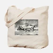 The road, winter - 1853 Tote Bag