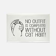Cat Hair Rectangle Magnet