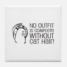 Cat Hair Tile Coaster