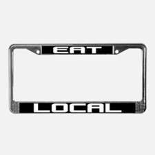Eat Local License Plate Frame