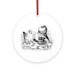Pigeon Trio Ornament (Round)