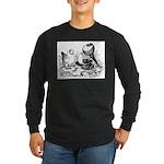 Pigeon Trio Long Sleeve Dark T-Shirt