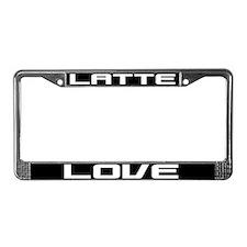 Latte Love License Plate Frame