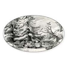 """""""The Witch and The Moon"""" Ornament (Round)"""