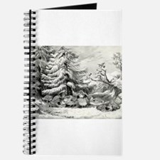 Snowed up - ruffed grouse in winter - 1867 Journal
