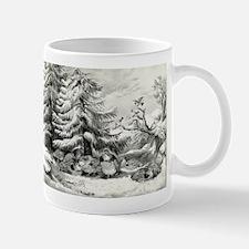 Snowed up - ruffed grouse in winter - 1867 Mug