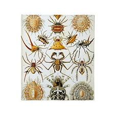 Vintage Spiders Throw Blanket
