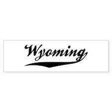 Wyoming Bumper Bumper Sticker