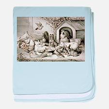 The happy family - 1874 baby blanket