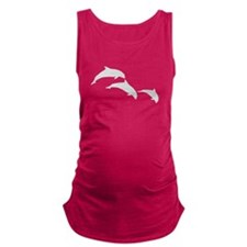 Dolphin Silhouettes Maternity Tank Top
