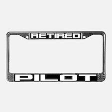Retired Pilot License Plate Frame