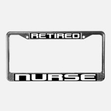 Retired Nurse License Plate Frame