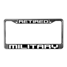 Funny Retired military wife License Plate Frame