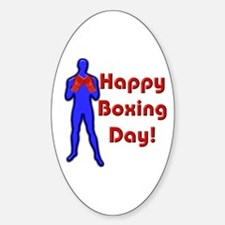 Happy Boxing Day Oval Decal