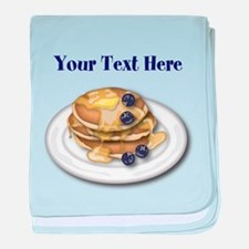 Pancakes With Syrup And Blueberries baby blanket