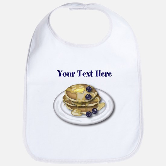Pancakes With Syrup And Blueberries Bib