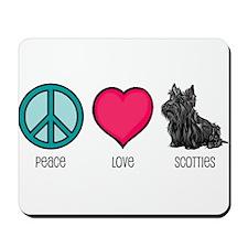Peace Love & Scotties Mousepad