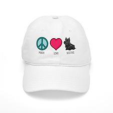 Peace Love & Scotties Baseball Cap