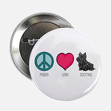 Peace Love & Scotties Button