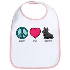 Peace Love & Scotties Bib