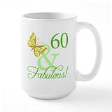 60 and fabulous Large Mugs (15 oz)
