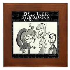 Rigoletto black & white Framed Tile