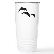 Dolphin Silhouettes Travel Mug
