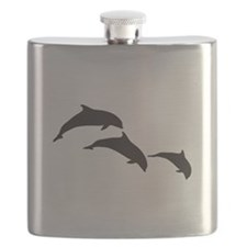 Dolphin Silhouettes Flask