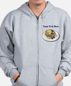 Pancakes With Syrup And Blueberries Zip Hoodie