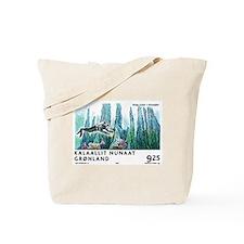 2005 Greenland Scuba Diver Postage Stamp Tote Bag