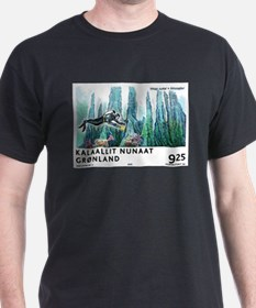 2005 Greenland Scuba Diver Postage Stamp T-Shirt