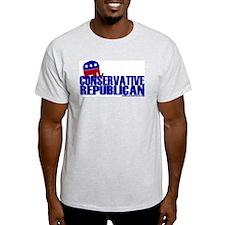 Conservative Republican Ash Grey T-Shirt