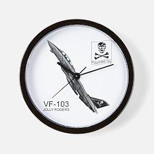 Vf-103 Jolly Rogers Wall Clock