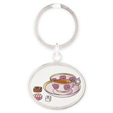 Tea and Petit Fours Keychains