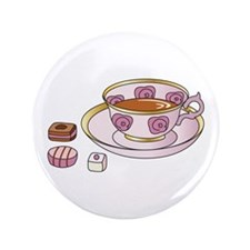 "Tea and Petit Fours 3.5"" Button (100 pack)"