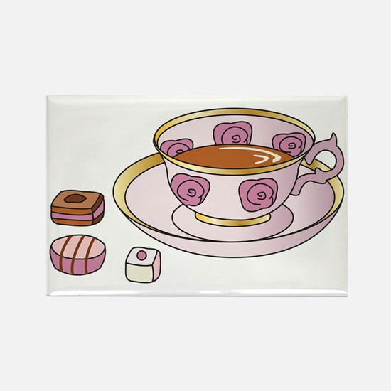 Tea and Petit Fours Rectangle Magnet (10 pack)