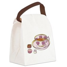 Tea and Petit Fours Canvas Lunch Bag