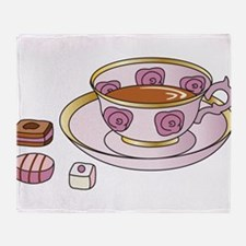 Tea and Petit Fours Throw Blanket
