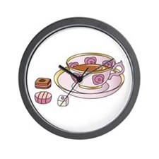 Tea and Petit Fours Wall Clock