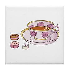 Tea and Petit Fours Tile Coaster