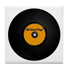 Vinyl Record Tile Coaster