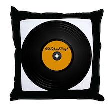 Vinyl Record Throw Pillow