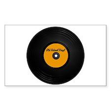 Old School Vinyl Record Rectangle Decal
