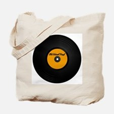 Old School Vinyl Record Tote Bag