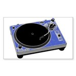 Turntable Rectangle Sticker