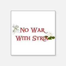 No War With Syria Sticker