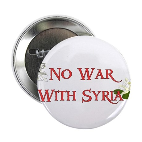 """No War With Syria 2.25"""" Button"""