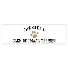 Glen of Imaal Terrier: Owned Bumper Bumper Sticker